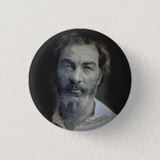 Ausdruck in den Augen Walt Whitmans Runder Button 3,2 Cm