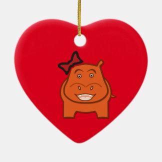 Ausdrucksvoll spielerischer Dianne Keramik Herz-Ornament