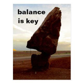 Ausgeglichene Felsen-Postkarte Postkarte