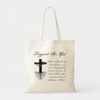 Ausgelöst für Gott-Tasche Tragetasche