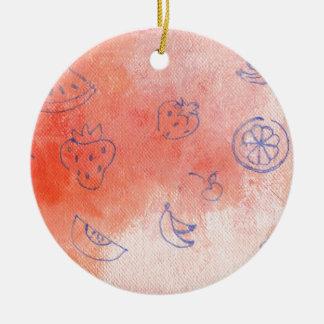 ausgereifte Wiese Rundes Keramik Ornament