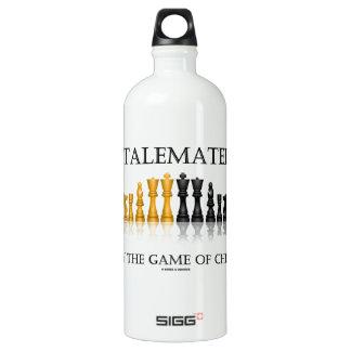 Ausgeschaltet durch The Game des Schachs Aluminiumwasserflaschen