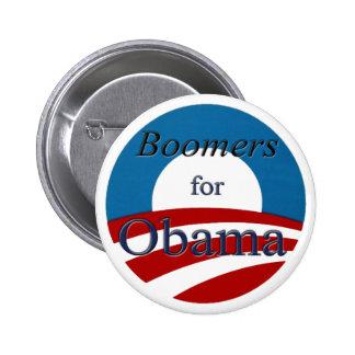 Ausgewachsene männliche Kängurus für Obama - Knopf Runder Button 5,1 Cm