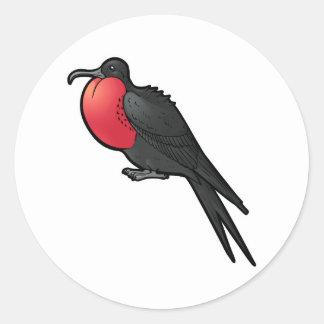 Ausgezeichnetes Frigatebird Runder Aufkleber