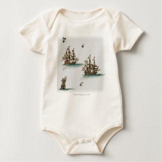 Ausländische Schiffe Baby Strampler