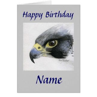 Ausländischer Falke-Glücklicher Geburtstag Karte