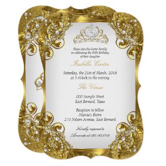 Auslese-goldenes weißes karte