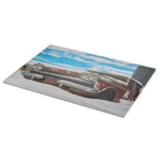 Ausschnitt-Brett-GlasWestern-Vintage Kunst Schneidebrett