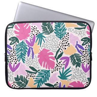 Ausschnitt formt tropische Muster-Laptop-Hülse