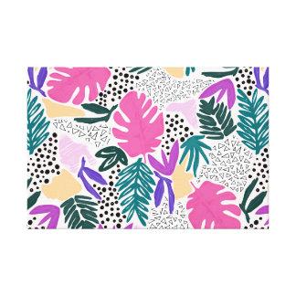 Ausschnitt formt tropische Muster-Leinwand Leinwanddruck