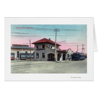 Außenansicht des elektrischen DepotNapa, CA Grußkarte