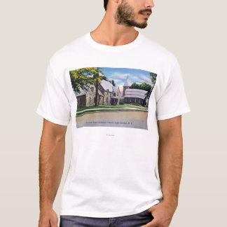 Außenansicht des heiligen Herz-Katholischen T-Shirt