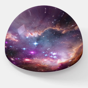 Außennebel Galaktische Lila Astronomie Briefbeschwerer