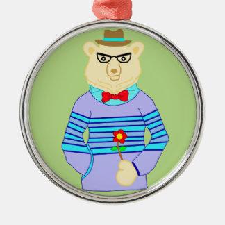 Aussenseiterbär Silbernes Ornament