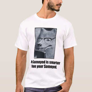 Aussenseitersamoyed-Hund scherzt T-Stück T-Shirt