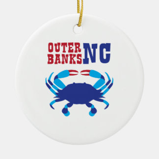 Äußere Banken Rundes Keramik Ornament