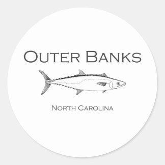 Äußerer Bank-North Carolina-König Makrele Runder Aufkleber