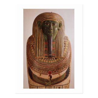 Äußerer Deckel des Sarkophags von Psametik I Postkarte