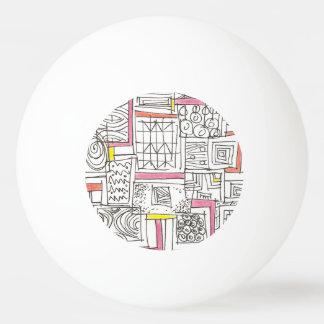 Außerhalb des Kasten-Abstrakten geometrischen Tischtennis Ball