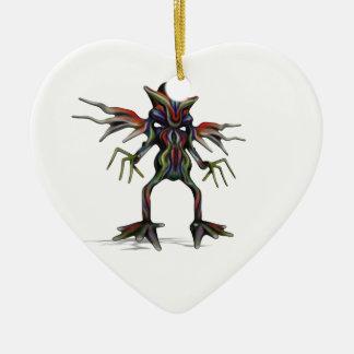 außerirdisch keramik Herz-Ornament