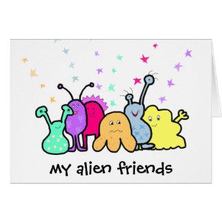 Außerirdische-Freunde Karte