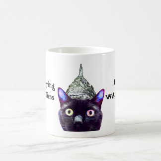 Außerirdische! Schwarze Katzen-Verein-Tasse Tasse