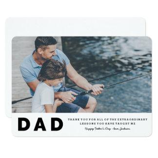 Außerordentliche der Vatertags-Karte Lektions- 12,7 X 17,8 Cm Einladungskarte