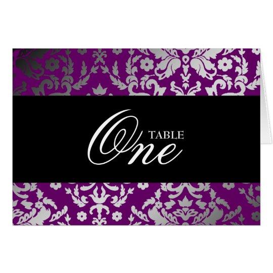 außerordentliches lila Tabellenauto des Mitteilungskarte