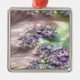 außerordentliches Verwicklungs-Fraktal Silbernes Ornament