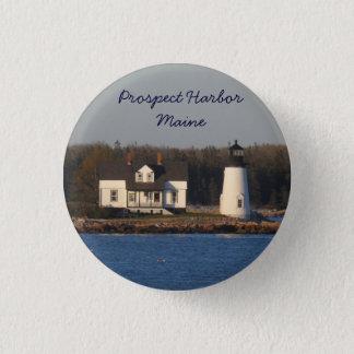 Aussicht-Hafen-Leuchtturm Maine Runder Button 3,2 Cm
