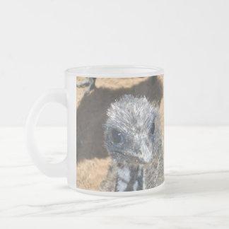 Aussie_Baby_Emu, _Frosted_Beer_Coffee_Mug. Mattglastasse