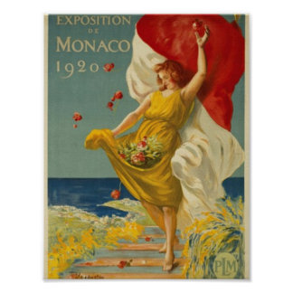 Ausstellung von Monaco 1920 Poster