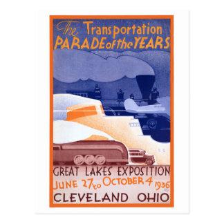 Ausstellungs-Vintages Plakat USA Ohio wieder Postkarte