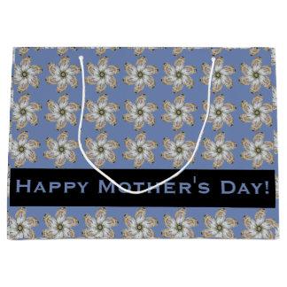 Austern-Blumen-Geschenk-Tasche - entwerfen Sie ein Große Geschenktüte