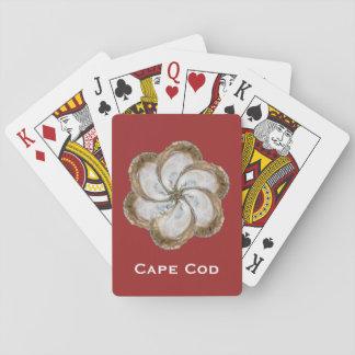 Austern-Blumen-Spielkarten - Rot des Entwurfs-C Spielkarten