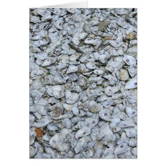 Austern-Muscheln Grußkarte