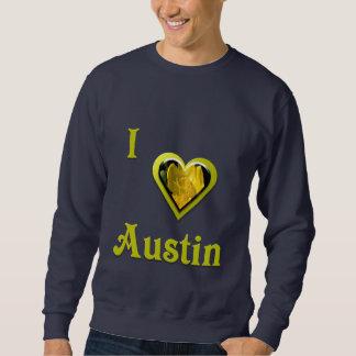 Austin -- mit gelber Blume Sweatshirt