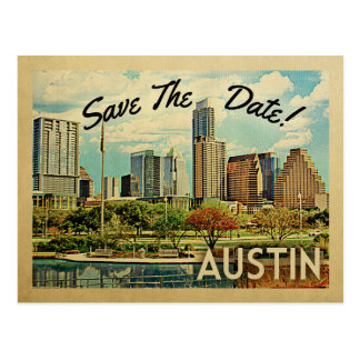 Austin Save the Date Texas Postkarte
