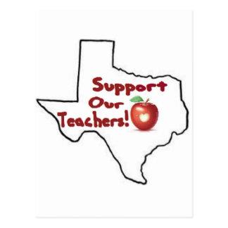 Austin - stützen Sie unsere Lehrer! Postkarte