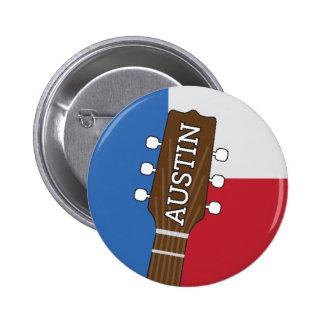 Austin Texas - Musik-Hauptstadt der Welt - Knopf Runder Button 5,1 Cm