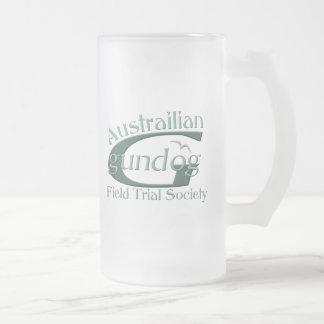 Austrailian Gewehr-Hund Mattglas Bierglas
