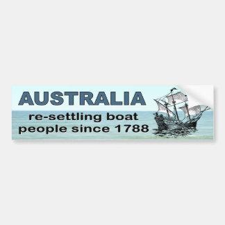 Australien, das Bootsflüchtlinge seit 1788 wieder Autoaufkleber