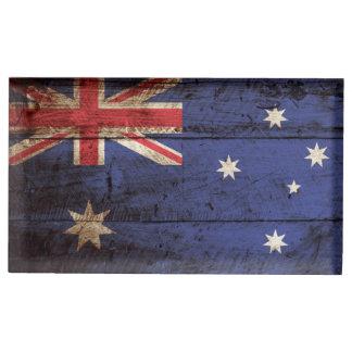 Australien-Flagge auf altem hölzernem Korn