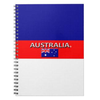 Australien-Flagge färbt Designer-modernes Notizblock