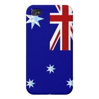 Australien-Flagge in Chrom-Grafiken Iphone 4 Fall iPhone 4 Schutzhülle