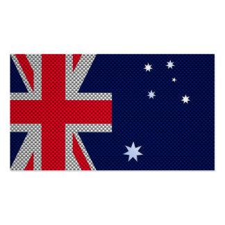 Australien-Flaggen-Entwurf in der Visitenkarten