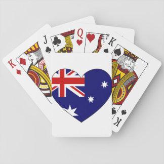 Australien-Flaggen-Herz Spielkarten
