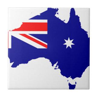 Australien-Flaggen-Karte Kleine Quadratische Fliese