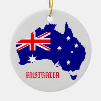Australien-Flaggen-Karten-Kreis-Verzierung Keramik Ornament