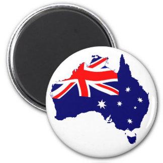 Australien-Form-Flagge Runder Magnet 5,7 Cm